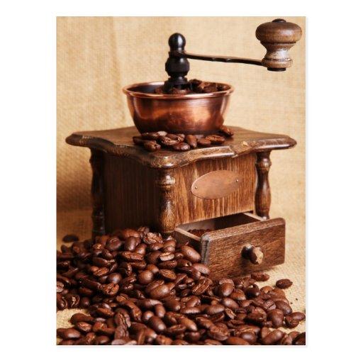 Coffee beans Kaffeemühle Postcards