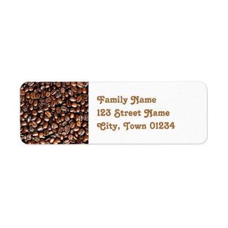 Coffee Beans Return Address Label