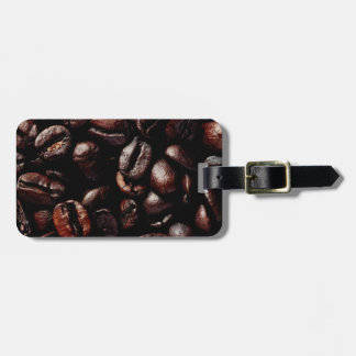 Coffee beans luggage tag