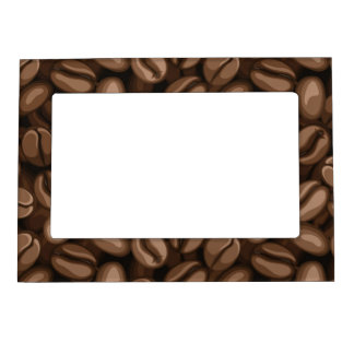 Coffee beans magnetic photo frame