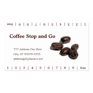 Coffee Beans | Matt Antique Double-Sided Standard Business Cards (Pack Of 100)