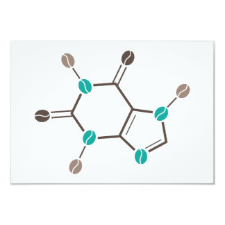 coffee beans molecular caffeine card