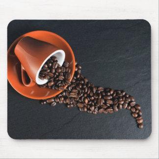 Coffee beans & mug mouse pad