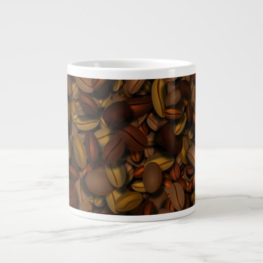 Coffee Beans On Coffee Beans 20 Oz Large Ceramic Coffee