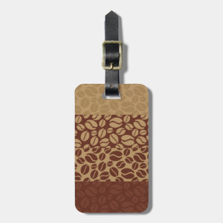 Coffee Beans Pattern Bag Tag