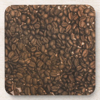Coffee beans pattern drink coasters