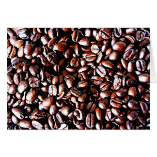 Coffee Beans Pattern - Dark Roast Card