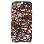 Coffee Beans Pattern - Dark Roast Tough iPhone 6 Case