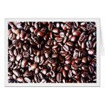 Coffee Beans Pattern - Dark Roast Greeting Card