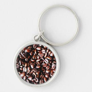 Coffee Beans Pattern - Dark Roast Keychain