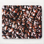 Coffee Beans Pattern - Dark Roast Mouse Pad