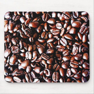 Coffee Beans Pattern - Dark Roast Mouse Pad