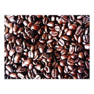 Coffee Beans Pattern - Dark Roast Photo Print