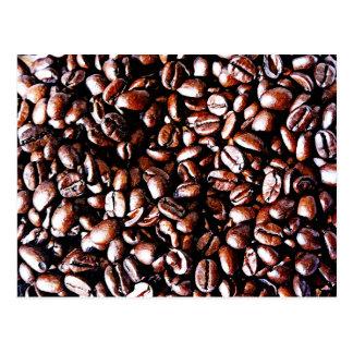 Coffee Beans Pattern - Dark Roast Postcard