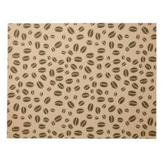 Coffee beans pattern note pad