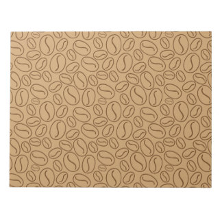 Coffee beans pattern notepad