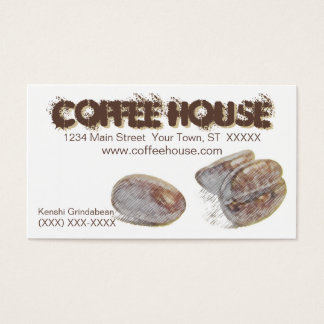 """coffee beans"" personalizable business card"