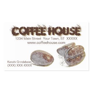 coffee beans personalizable business card