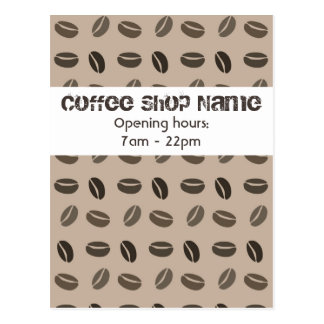 Coffee beans personalized cafe card design