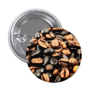 Coffee Beans Photography Pinback Button