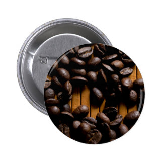 Coffee beans pinback button
