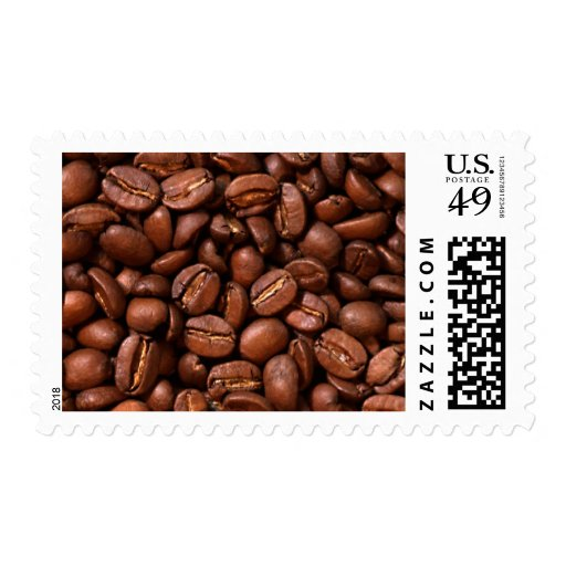 Coffee Beans Postage Stamps