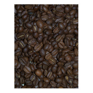 Coffee beans post card
