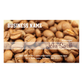 Coffee Beans Professional Coffee Shop Business Card