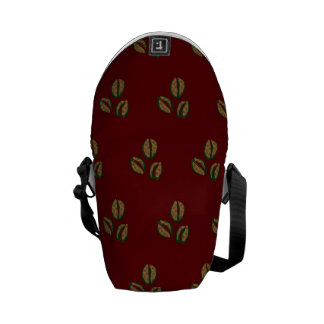 coffee beans red courier bag