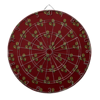 coffee beans red dart boards