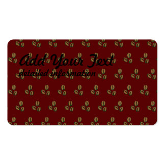 coffee beans red Double-Sided standard business cards (Pack of 100)