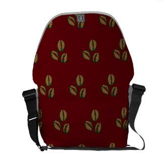 coffee beans red messenger bag