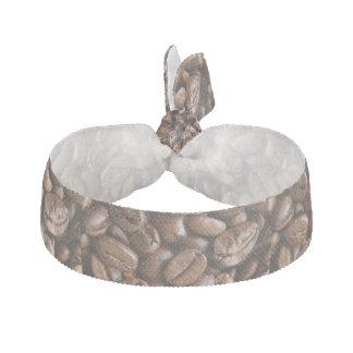 coffee beans ribbon hair tie