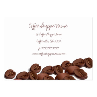 Coffee Beans Shoppe Punch Cards Large Business Card