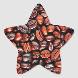 Coffee beans star sticker