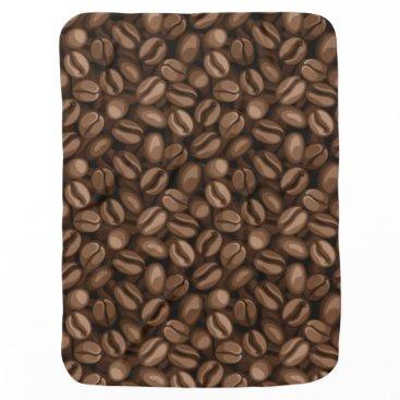 Coffee Themed Coffee beans stroller blanket