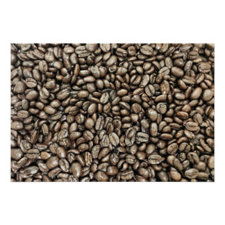 Coffee Beans Structure Texture Poster