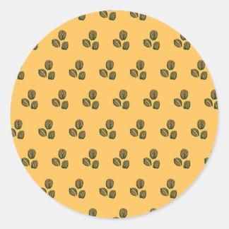 coffee beans sunshine round sticker