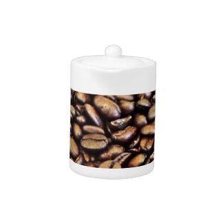 coffee beans teapot