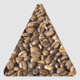 coffee beans triangle sticker