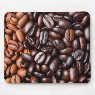 Coffee Beans - whole light and dark roasted Mouse Pad
