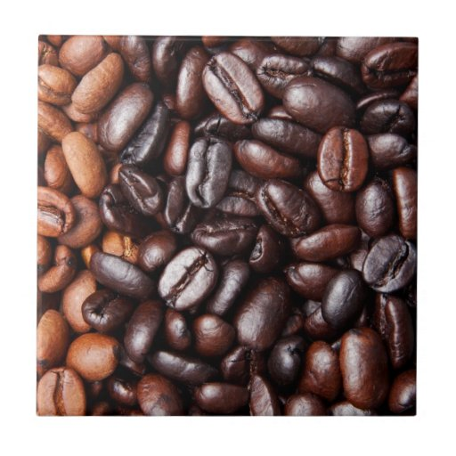 Coffee Beans - whole light and dark roasted Ceramic Tile
