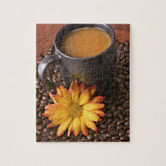 Coffee Beans & Yellow Daisy Puzzle