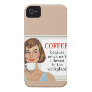 Coffee because crack isn't allowed iPhone 4 case