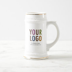 Coffee Beer Stein Custom Company Logo Promotional at Zazzle