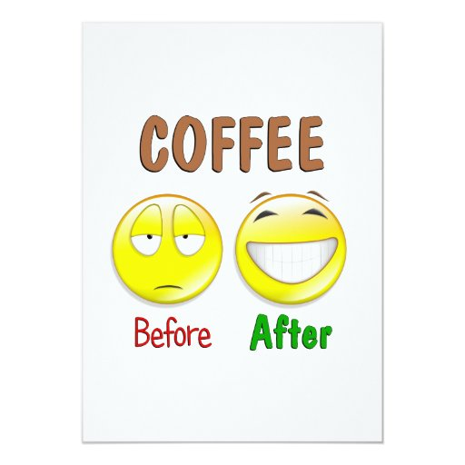 Coffee Before After Invitation