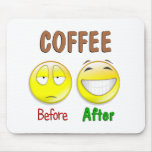 Coffee Before After Mousepads