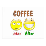 Coffee Before After Postcards