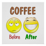 Coffee Before After Poster