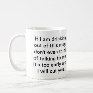 Coffee Before Safe Conversation Classic White Coffee Mug